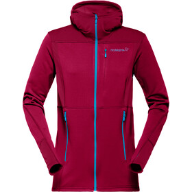 Norrøna Falketind Warm1 Stretch Zip Hoodie Women rhubarb
